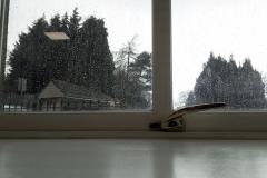 Watery Classroom Window