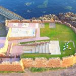 Aerial view of completed Lamer Island Battery project. Image credit Alistair Clark.