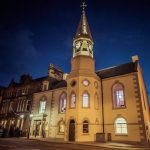 Campbeltown Town Hall - External View At Night