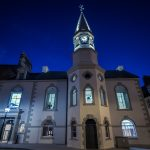 Campbeltown Town Hall - Nightime View of Campbeltown Town Hall