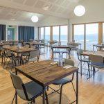 Interior of restaurant cafe space