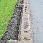 original condition of the boundary and garden