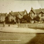 view of Haddington station entrance and historic railings