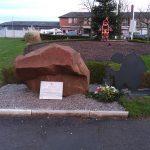 Memorial Stone and Silouette December 2018