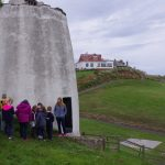 Doocot before start. Crail Primary pupils attending for an external archaeology dig.