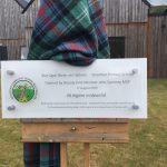 Plaque unveiled at 'Official' Opening by Deputy First Minister John Swinney MSP, October 2019