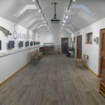 Renovated interior of community hub