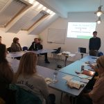 Delivering educational training and workshops in the centre's Classroom