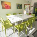 Inside the community hub building - volunteer meeting space