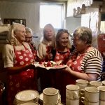 Banton's bakers take over the kitchen at The Swan Inn. One of many community fundraisers for the renovations