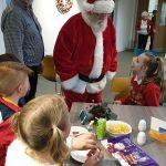 Santa visiting Primary school children